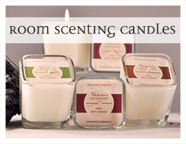 Room scenting soy candles