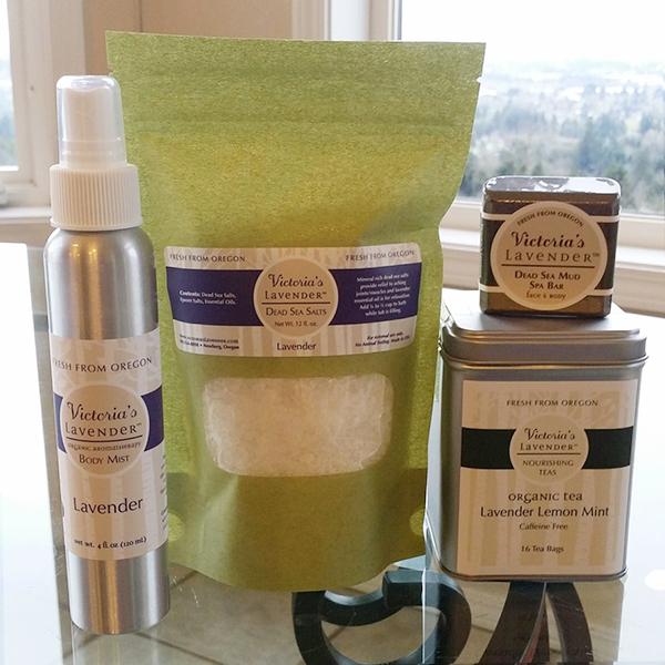 Bath Salts, Body Mist, Dead Sea Mud Spa Bar and Organic Tea