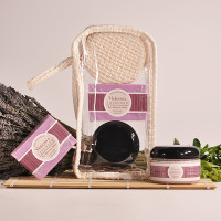Lavender Cabernet Soap and Scrub Gift Set