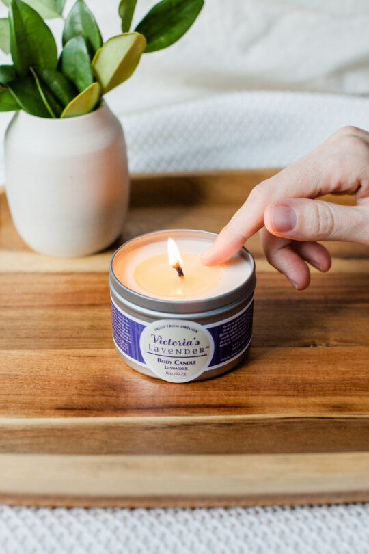Lavender Body Candle Lifestyle
