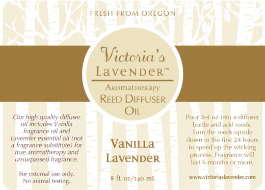 Vanilla Lavender Reed Diffuser Oil